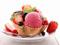 تزئین دسر بستنی با میوه