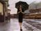 نقاشی دختر زیر باران