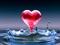 عکس عاشقانه قطره قلب