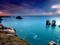 منظره افق در دریای آرام