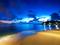 منظره زیبا ساحل آبی فیروزه ای