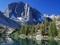 تصویر کوهستان در کنار دریاچه