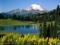 طبیعت کوهستان و دریاچه