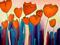 نقاشی انتزاعی گل شقایق
