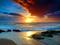 غروب رومانتیک در کنار ساحل