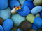 پروانه و سنگ های آبی فیروزه ای