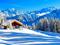 منظره کوهستانی زیبا در زمستان
