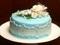 کیک تولد ساده آبی