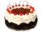 کیک تولد خوشمزه گیلاسی