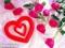 عکس عاشقانه قلب و گل قرمز