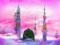 پس زمینه صورتی اسلامی مسجد