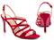 کفش مجلسی قرمز زنانه