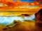 منظره غروب ساحل دریا