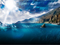 منظره تابش نور در اقیانوس