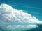 پوستر فانتزی نقاشی ابر