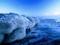 ساحل یخ زده در زمستان
