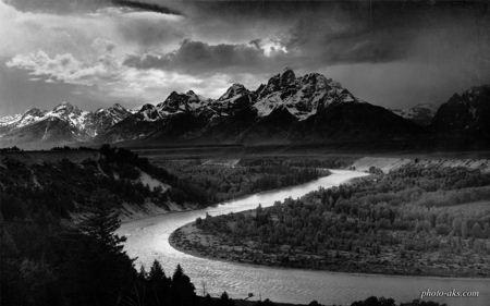 رودخانه مارپیچ انسل آدامز ansel adams river