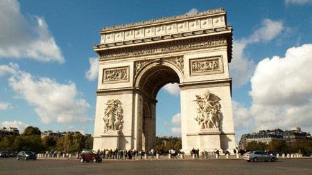 عکس بنای طاق پیروزی پاریس Arc de Triomphe