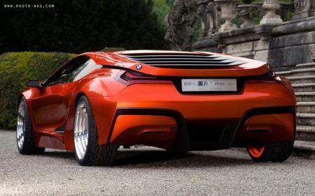 ماشین قرمز رنگ بی ام دبیلیو ام وان BMW M1 Concept widescreen