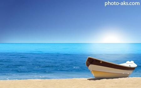 قایق در کنار ساحل boat in beach