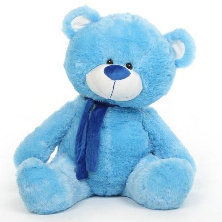 عروسک تدی آبی blue teddy bear