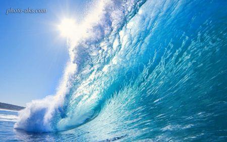 موج دریایی زیبا sea wave