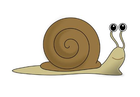 عکس حلزون کارتونی cip art cartoon snail