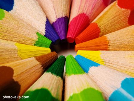 مداد های رنگی color pencils