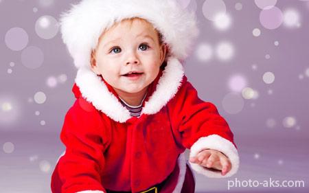 لباس زمستانه بچه گانه بابانوئل cute baby santa