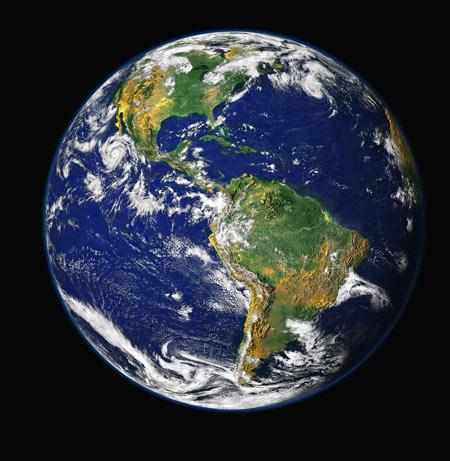 عکس ماهواره از کره زمین earth planet wallpaper