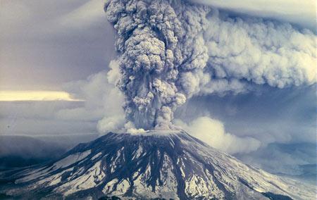 فوران کوه آتش فشان eruption mountain