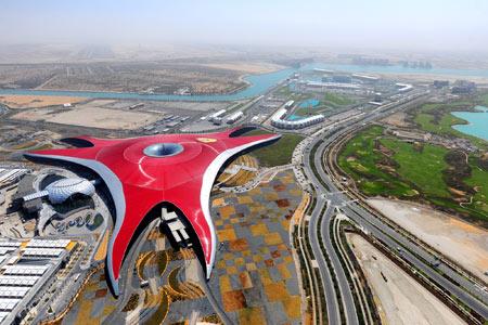 شهربازی دنیای فراری در دبی ferrari world abu dhabi