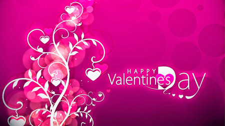 پوستر بنفش روز ولنتاین happy vaentines day