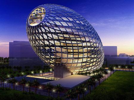 ساختمان تخم مرغی شکل سایبرتکچر architecture cybertecture egg