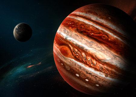 عکس زیبا سیاره مشتری jupiter planet wallpaper
