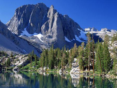 تصویر کوهستان در کنار دریاچه Lake montine