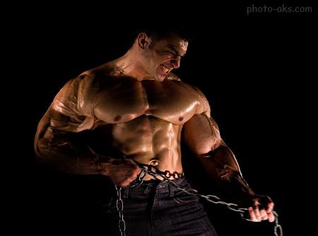 عکس عضلات ورزیده بدنساز muscles trained