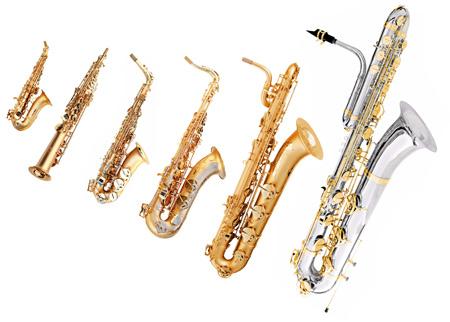 عکس انواع مختلف ساز ساکسیفون saxophone family music