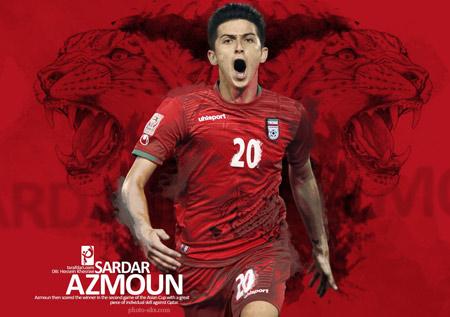 والپیپر سردار آزمون فوتبالیست ایرانی sardar azmoon poster