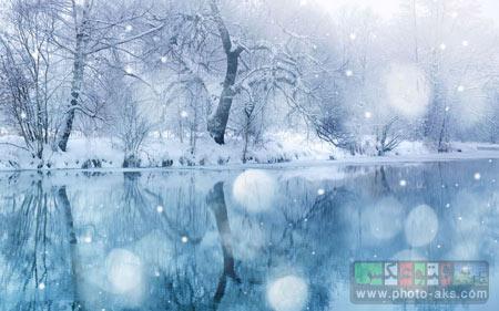 زیباترین عکس های زمستان winter river snow