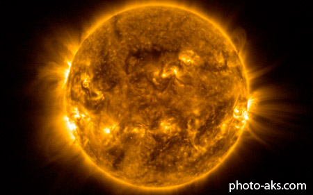 خورشید با اشعه ماوراء بنفش sun violet view