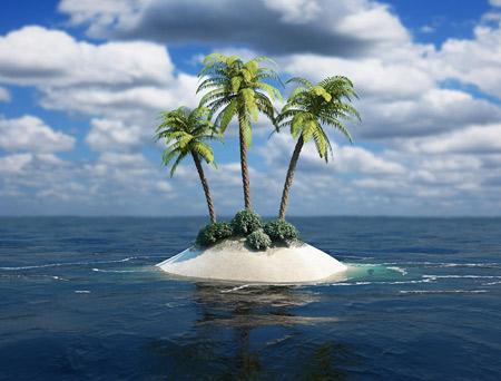 عکس منظره جزیره کوچک tropical island