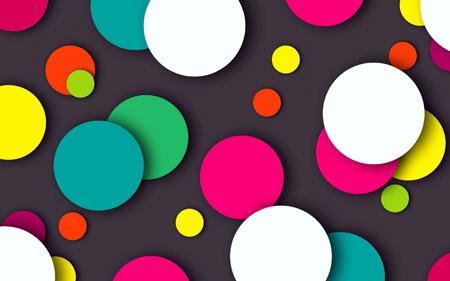 عکس انتزاعی دایره های رنگارنگ abstract circles