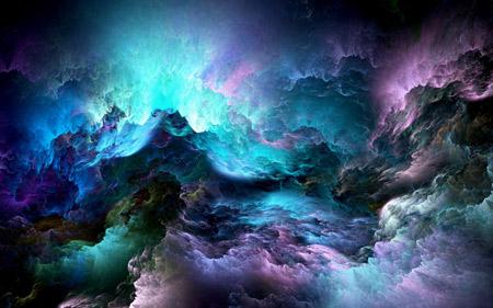 والپیپر انتزاعی ابرهای رنگارنگ abstract colorful clouds