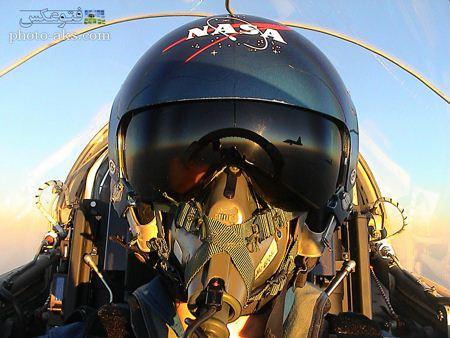 عکس خلبان هواپیمای جت aks khalaban jet