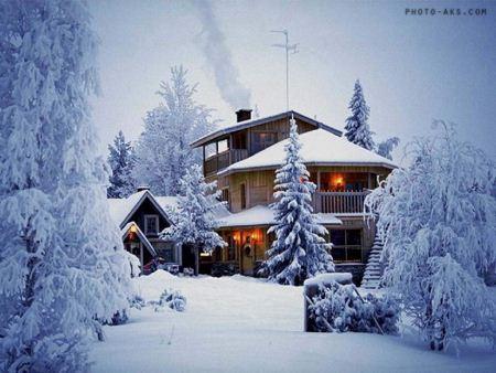 کلبه در زمستان aks kolbeh zemestan