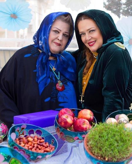 عکس نوروزی بهاره رهنما با مادرش aks norozi bahare rahnema