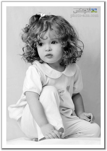 عکس سیاه و سفید دختر بچه aks dokhtar bache naz