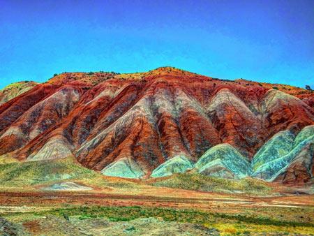 کوهای رنگی آلا داغلار میانه aladaglar mianeh