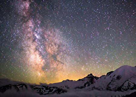 منظره ستارگان کهکشان راه شیری amazing milky way